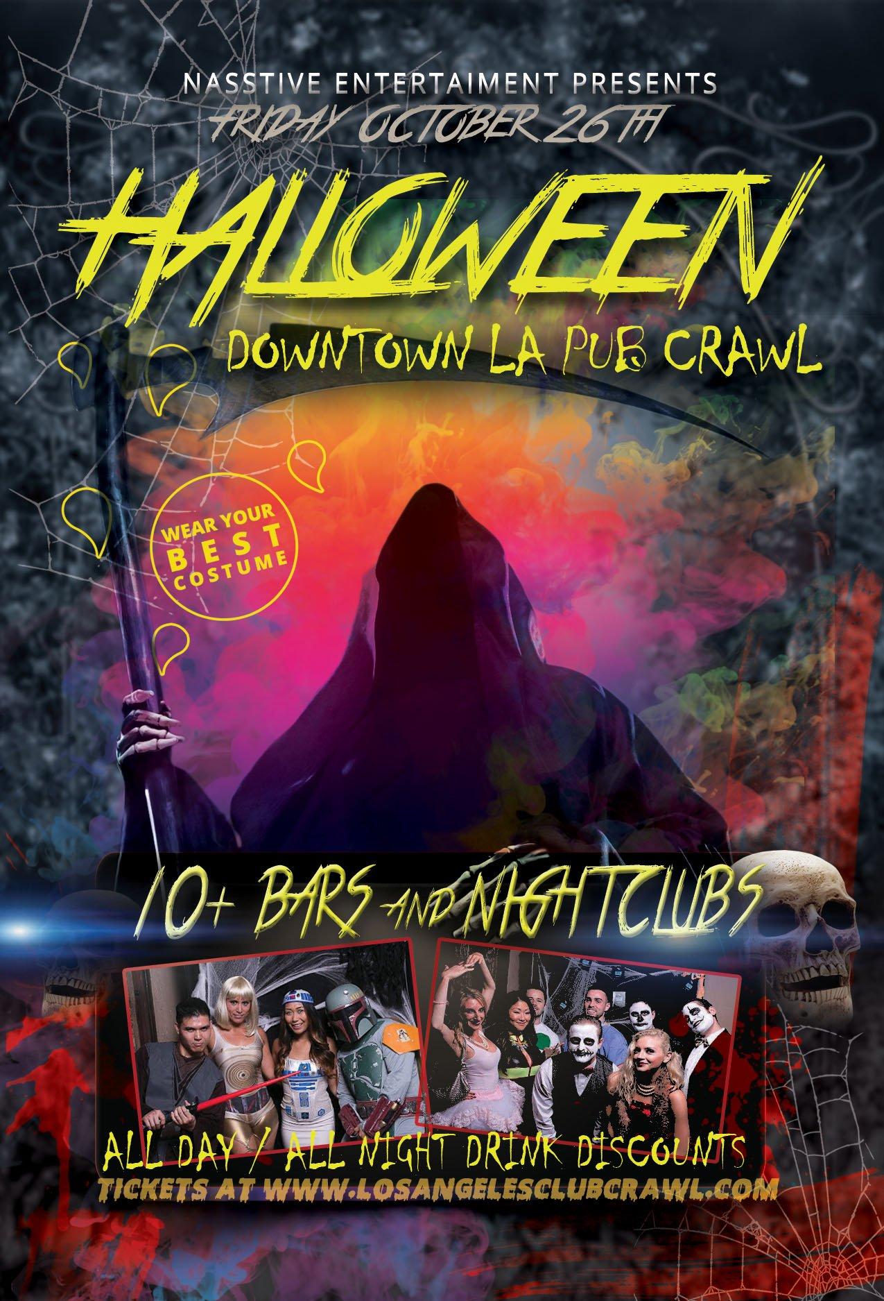 downtown la pre halloween pub crawl
